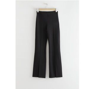 & Other Stories Front Split Tapered Trousers